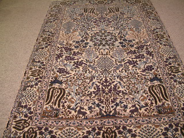 Nain 6 LAH Tree of Life Persian rug #1239, click on the picture or description for more details about this Persian rug and other Persian carpets in Wisconsin.