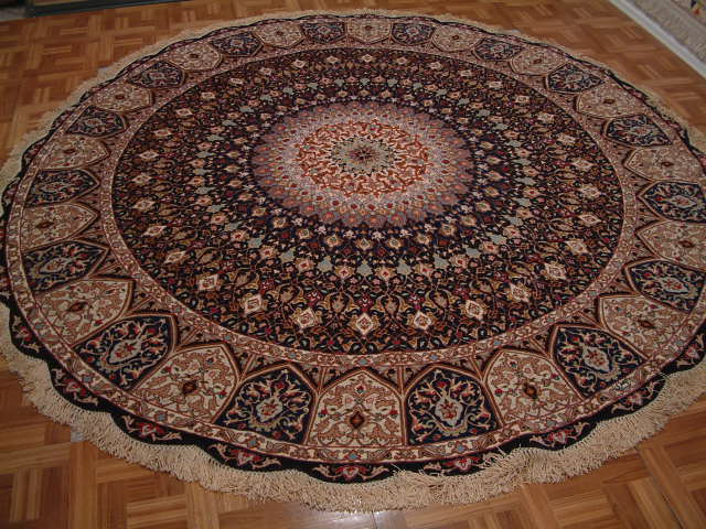 Tabriz Persian rug #1265, click on the picture or description for more details about the Persian carpets.