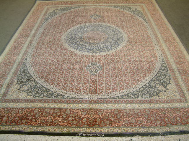 Qom Persian rug #1269, click on the picture or description for more details about the Persian carpets.