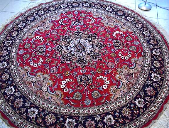 large round tabriz persian rugs carpets #1127