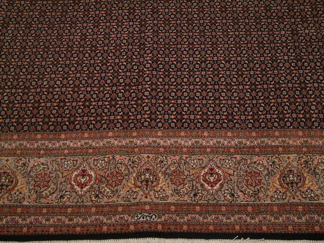 square large pirouzian Tabriz Persian rug; All Persian Rugs are genuine handmade. Also, every Persian Tabriz rug I offer is made with fine kurkwool/silk.