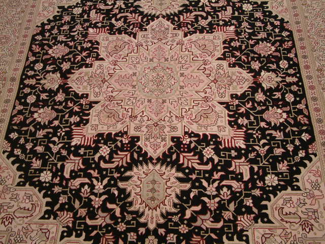 Tabriz Heriz Persian rug; All Persian Rugs are genuine handmade. Also, every Persian Tabriz rug I offer is made with fine kurkwool/silk.