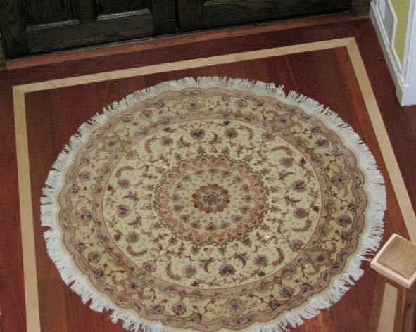 Round Tabriz Persian rug in New York