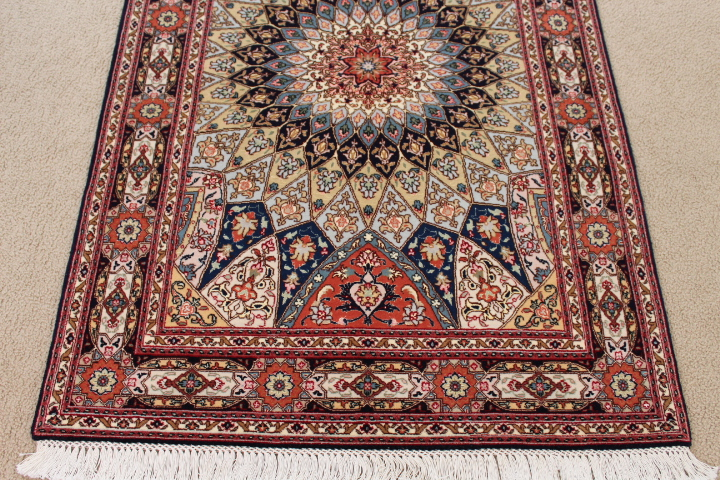 Medium 3x5 Gonbad Tabriz Persian rug. Dome Design Gombad Tabriz Persian carpet.