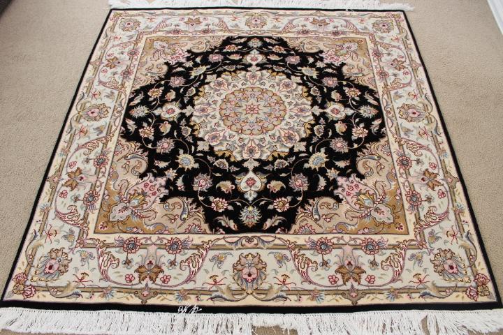 Square 5u0027 50 Raj Tabriz Persian Rug. 5x5 Square Tabriz Persian Carpet.