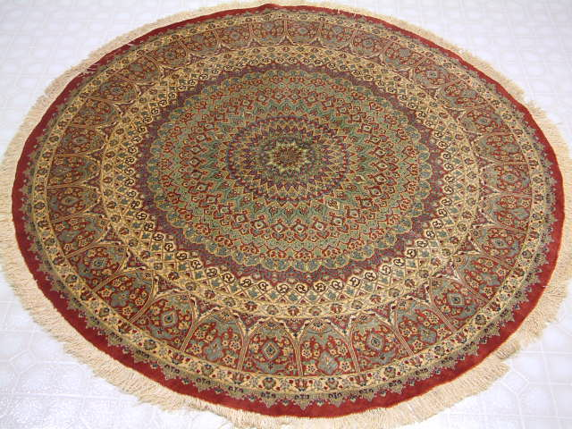 Qom Persian rug #3158, click on the picture or description for more details about the Persian carpets.