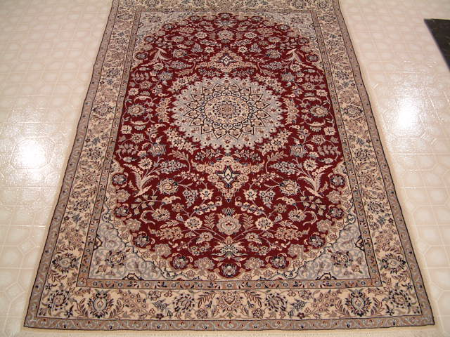 Nain Persian rug #3167, click on the picture or description for more details about the Persian carpets.