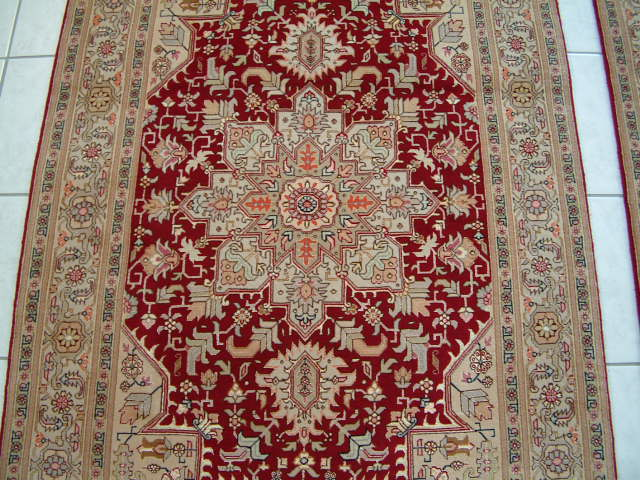 Tabriz Twin Persian rug; All Twin Persian Rugs are genuine handmade. Also, every Persian Tabriz rug I offer is made with fine kurkwool and silk.