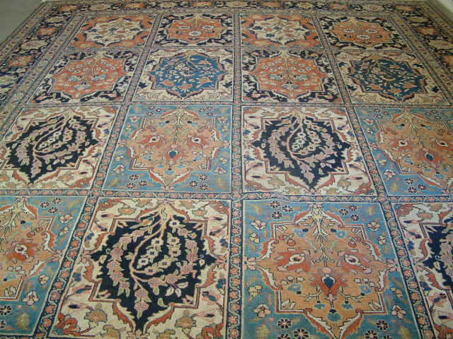 Old Tabriz Persian rug #T5873, click on the picture or description for more details about the Persian carpets.