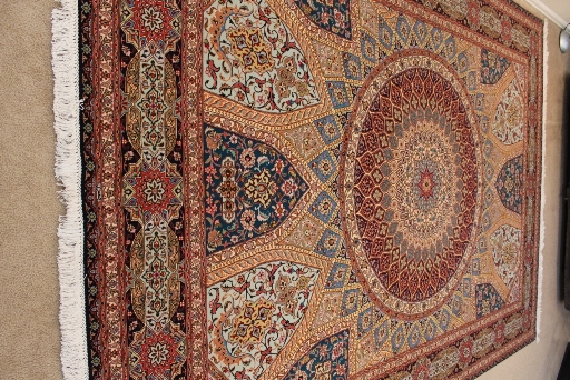 11x8 Jafari Gonbad Tabriz Persian rug. Dome Design Gombad Tabriz Persian carpet.