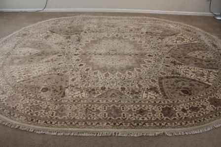 Oval Gonbad Persian rug #5160, 11x7 oval Gombad Persian carpet with silk.