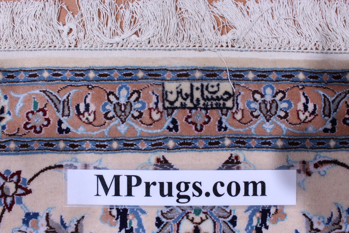 Nain Persian rug; All Persian Rugs are genuine handmade. Also, every Persian Nain rug is made of the finest kurkwool/silk.
