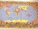 Pictorial Tabriz Persian rug #5048, pictorial world map Persian rug, picture Persian carpets.