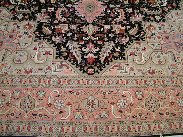 Tabriz Heriz Persian rug; All Persian Rugs are genuine handmade. Also, every Persian Tabriz rug is made of the finest kurkwool/silk.