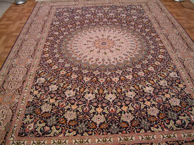 Jafari Tabriz Gonbad Persian Rug; All Persian Rugs Are Genuine Handmade.  Also, Every