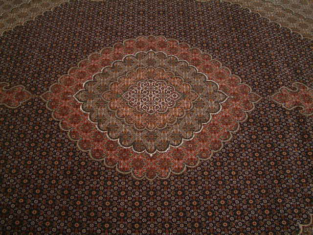 Tabriz mahi Persian rug; All Persian Rugs are genuine handmade. Also, every Persian Tabriz rug is made of the finest kurkwool/silk.
