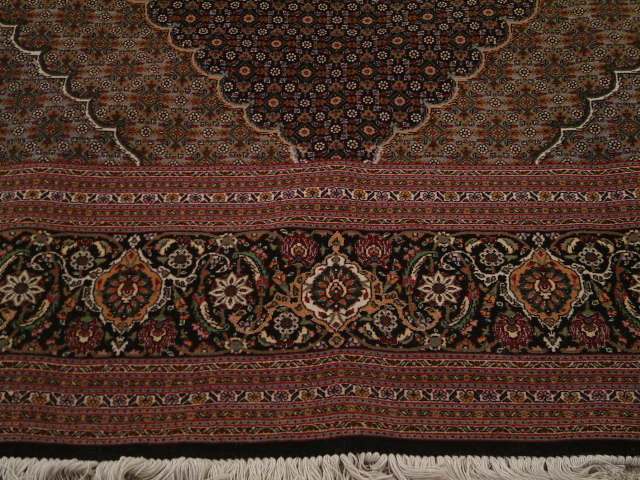 Tabriz mahi Persian rug; All Persian Rugs are genuine handmade. Also, every Persian Tabriz rug is made of the finest kurkwool/silk.
