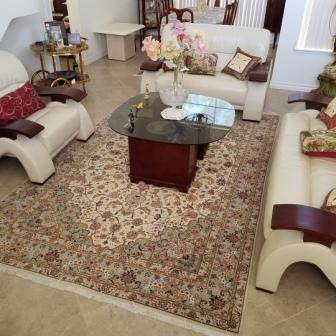 Tabriz Persian rug client in Germany