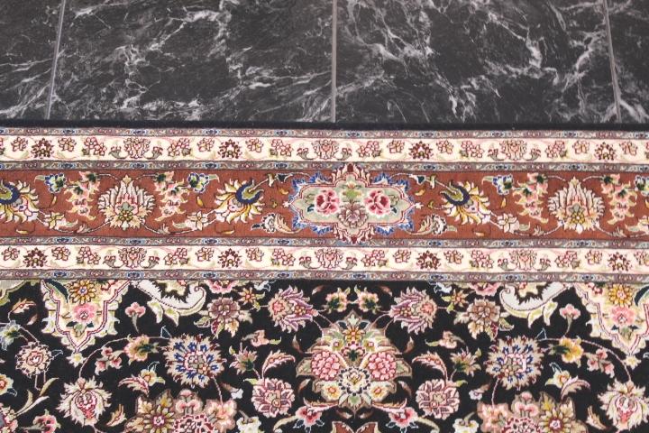 75 Raj silk Tabriz Persian rug with 800 kpsi.