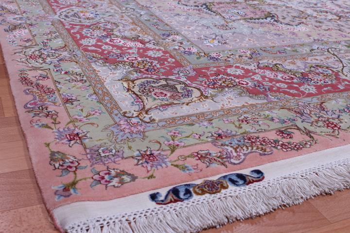 75 Raj 700 KPSI 8x11 silk foundation Gonbad Tabriz Persian rug