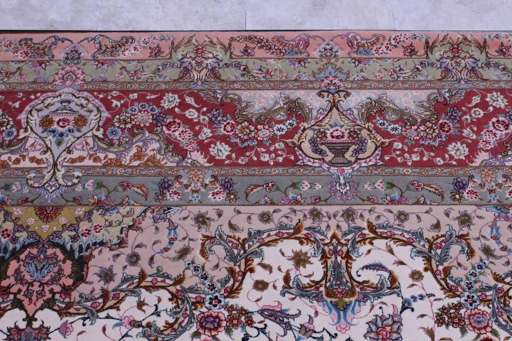 8x11 silk foundation 80 Raj 750 KPSI Tabriz Persan rug