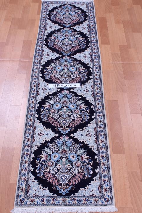 6Lah Nain Persian rug with 500 KPSI and 6' 2m long