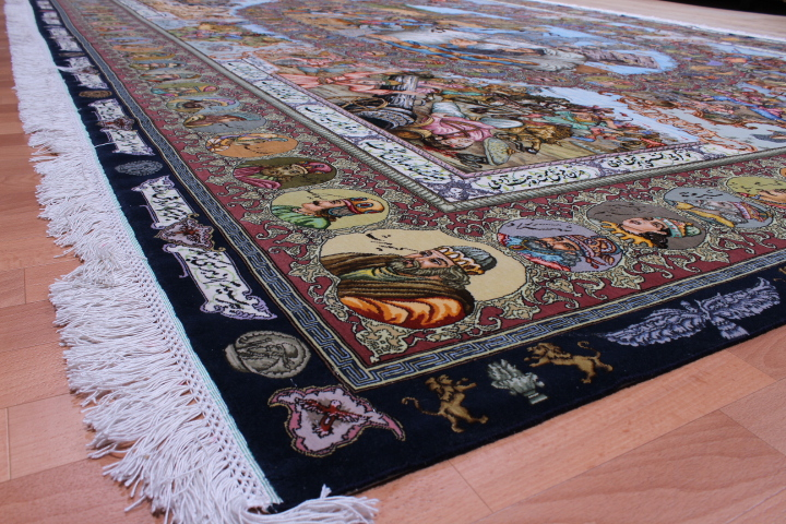 Imperial Pictorial Tabriz Persian rugs.