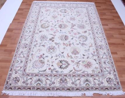 50 Raj Faraji Tabriz Persian rug with 350 KPSI. 10x6 silk Faraji Tabriz Persian carpet