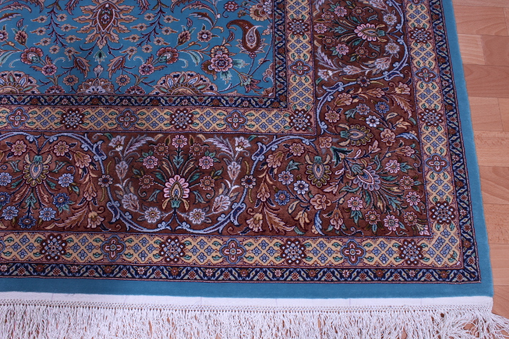 Rare Twin Isfahan Silk Masterpieces Signed Artpieces