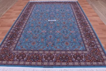 Twin Isfahan Persian Rugs Silk Masterpieces Signed Artpieces