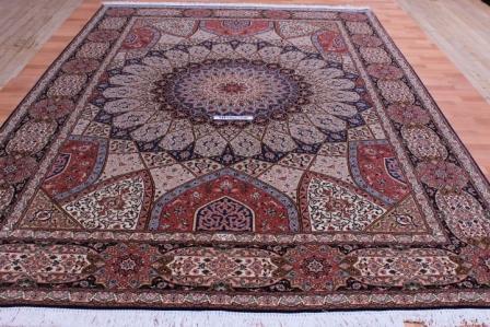 50 Raj 350 KPSI 8x11 Gonbad Tabriz Persian Rug