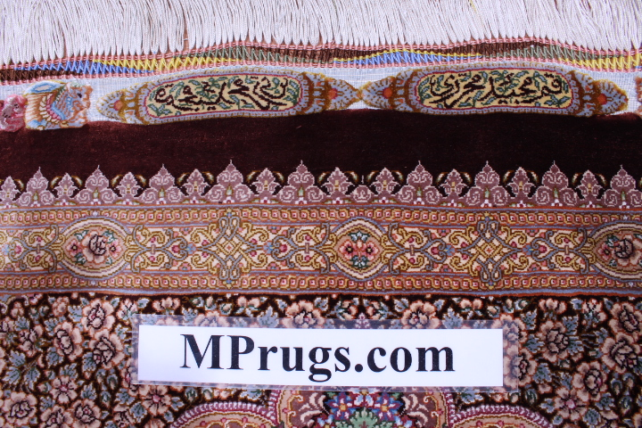 6'x4' pure silk Qum Persian rug 800kpsi with signature