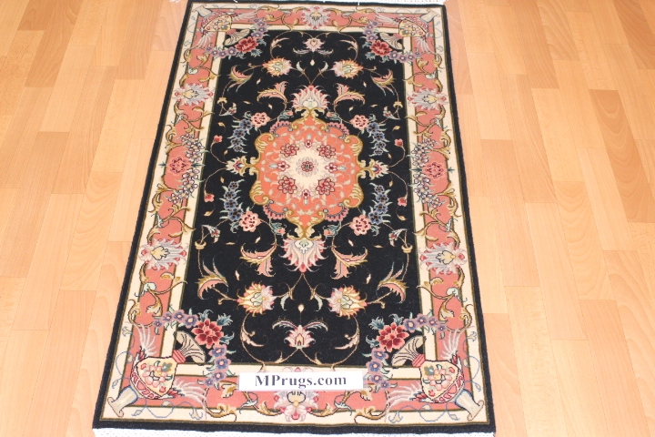 4x3 handmade silk Tabriz Persian rug; Genuine high quality Tabriz Persian rug