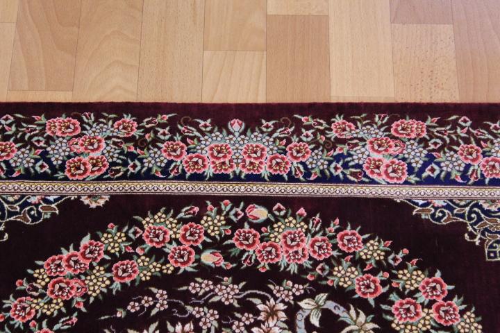 3x2 900 kpsi qum Persian rug, signed qom carpet