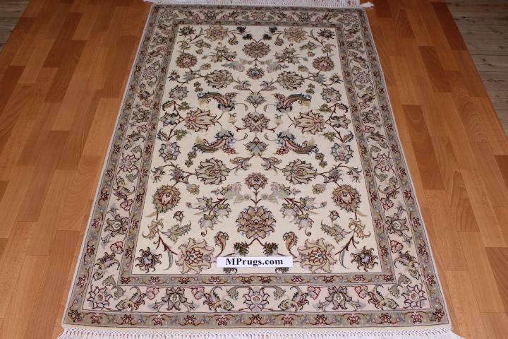 3x5 Tabriz 350 kpsi Persian rugs. 50 raj Tabriz Persian carpets with silk