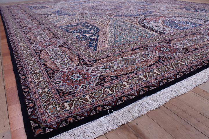 10x13 400 kpsi Gonbad silk Tabriz Persian Rug