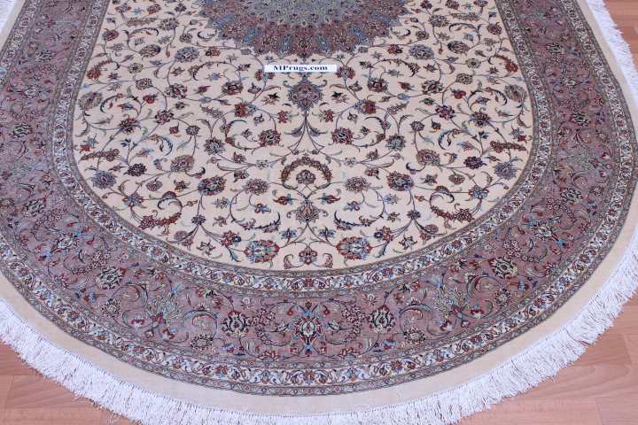 Oval Qom Persian Rugs Oval Silk Qum Carpet 06585