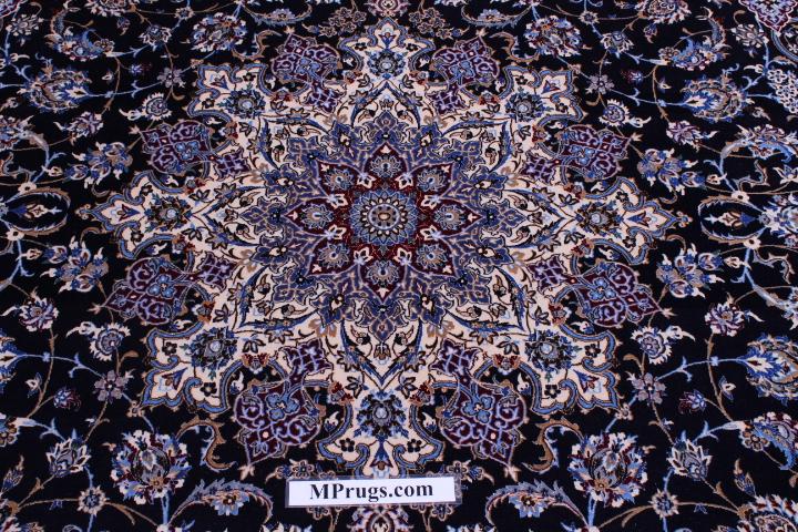 6Lah 500 KPSI 11x8 Nain Persian Rug.
