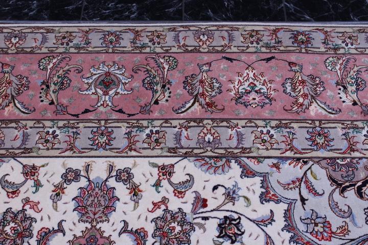 10x10 3m square 50 raj 350 kpsi Tabriz Persian rug.