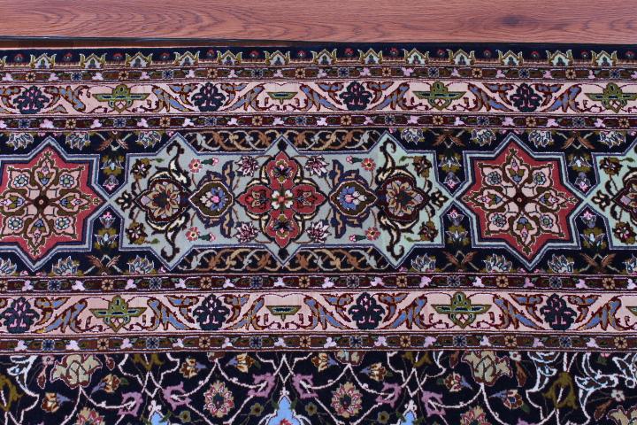 Large 75 Raj 700 KPSI 8x11 silk foundation Gonbad Tabriz Persian rug