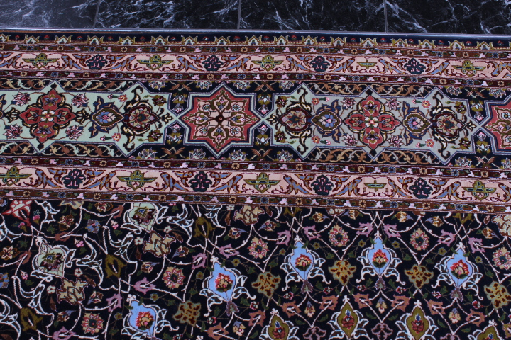 Large 75 Raj 700 KPSI 8x11 silk foundation Gonbad Tabriz Persian rug