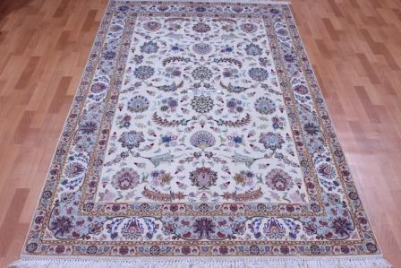 8x5 60 Raj 400kpsi Silk Tabriz Persian rug