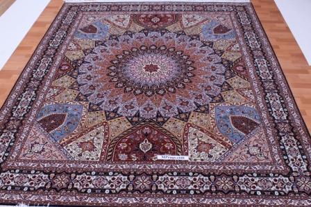 x-Large Tabriz Gonbad Persian rug, 10x8 Gombad Tabriz carpet