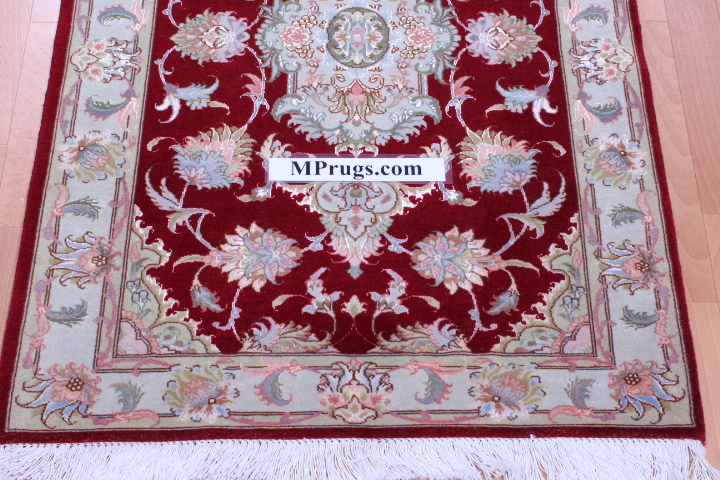 7' 2m long tabriz persian rug runner
