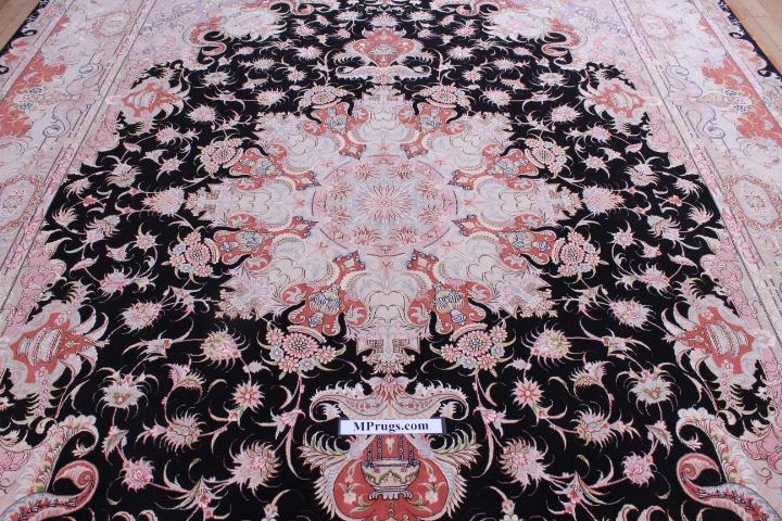 10x13 Tabriz Persian rug with 400 kpsi 60 raj