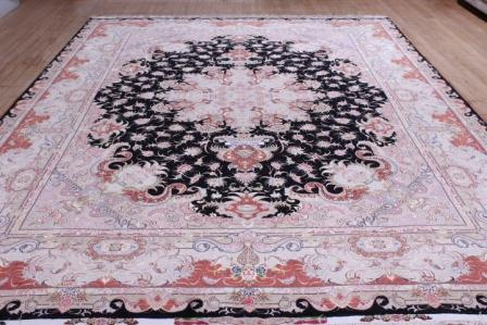 10x13 Tabriz Persian rug with 400 kpsi 60 raj