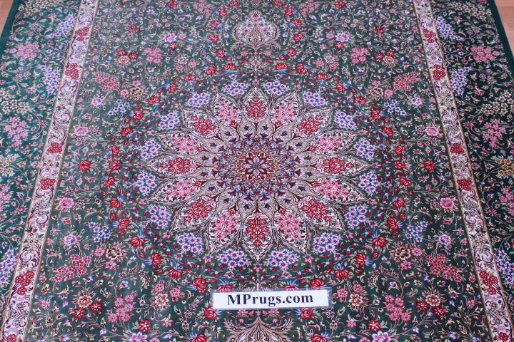 6'x4' pure silk Qum Persian rug 800kpsi with signature