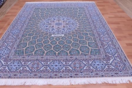 8x6 Nain Persian rug silk Gonbad 6La 500 KPSI