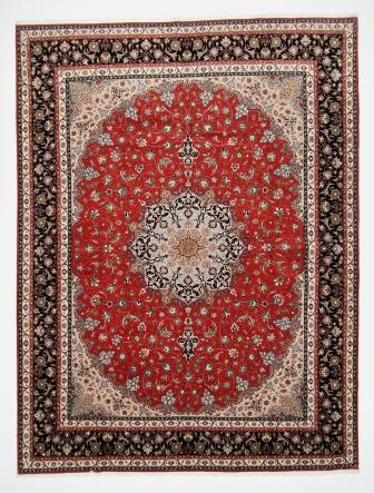 10x13 Tabriz Persian rug with a silk. 13x10 50 raj 350kpsi Tabriz Persian carpet