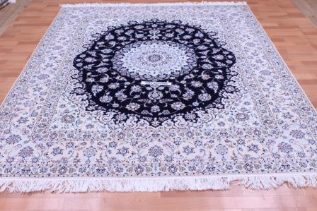8x6 Nain 6la persian rug with 500 kpsi